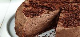 Tarta de queso y chocolate sin horno y sin gluten