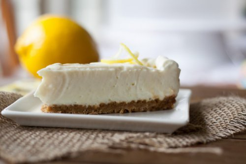 Tarta de queso y limón sin horno